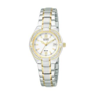 Citizen Eco Drive Womens Silhouette Two tone Diamond Case Watch