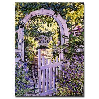 David Lloyd Glover Country Garden Gate Canvas Art Today $52.99 Sale