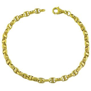 14k Yellow Gold Polished Anchor Link Bracelet