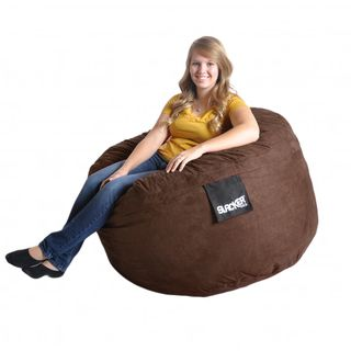 Slacker Sack 4 Round Chocolate Brown Microfiber and Foam Bean Bag