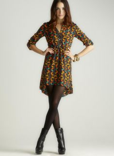 ROMEO&JULIET COUTURE Printed Pleated Skirt Shirtdress