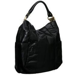 Steve Madden Black Leather Hobo Bag