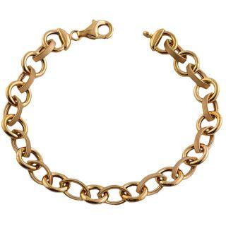 Fremada 14k Pink Gold Round/ Oval Link Bracelet Today $585.99