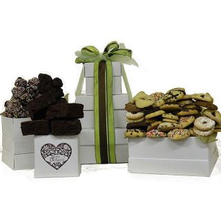 Kosherline Cookies/ Rum Balls Mix and Treasure Brownies Gift Tower