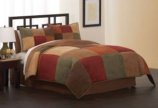 Berlin Microsuede Luxury Bedding Ensemble with 230tc Sheet Set