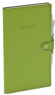 Italian GREEN Leather 2012 Weekly Pocket Planner
