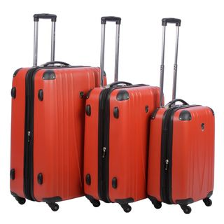 Heys USA 4WD Red Three piece Hardside Spinner Luggage Set