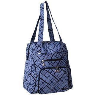 Jenni Chan Womens Blue Brush Strokes Soft Gym Tote Bag