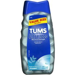 Tums Ultra 1000 Maximum Strength Antacid/Calcium Supplement Spearmint