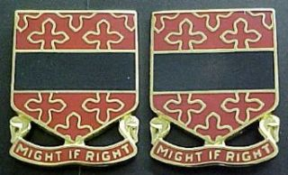 182nd Field Artillery Distinctive Unit Insignia   Pair