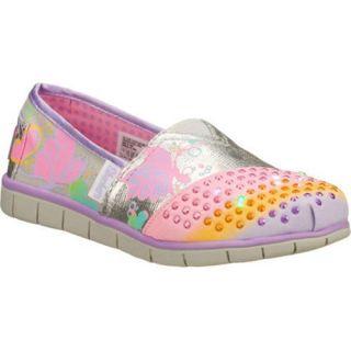 Girls Skechers Twinkle Toes Starlight Silver/Multi