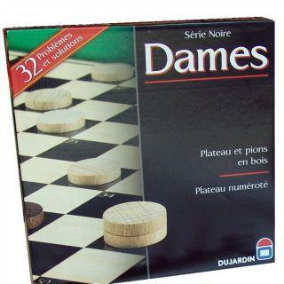 Dames plateau Série Noire   Achat / Vente PION FIGURINE DE JEU Dames