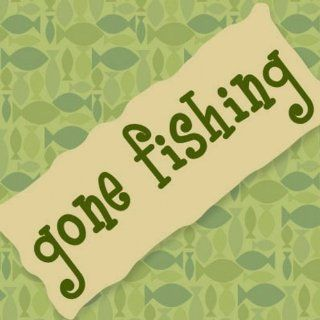 Gone Fishing Cocktail Napkin