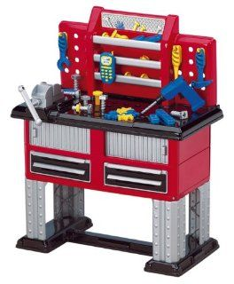 American Plastic Toy 37 Piece Deluxe Workbench Toys