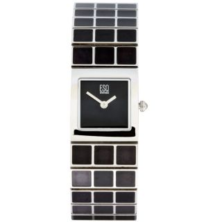 ESQ Womens Roxanne Stainless Steel Black Dial Watch