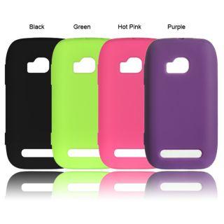 Luxmo Solid Silicone Skin Protector Case for Nokia Lumia 710