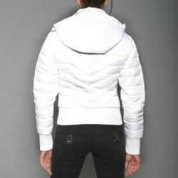 Triple FAT Goose Womens White Zip Hoodie Jacket