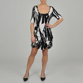 Tiana B. Womens Brushstroke Pickup hem Plus size Jersey Dress