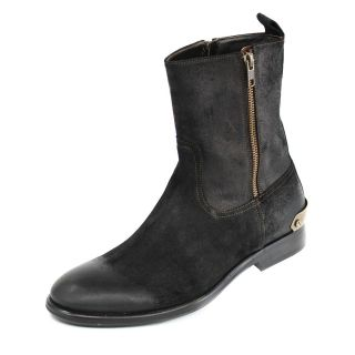Galliano Mens Suede Black Boots Today $430.99
