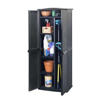 Armoire haute de jardin en résine 450 litres   Achat / Vente COFFRE