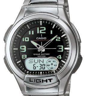 Casio Mens AQ180WD 1BV Ana Digi Light Watch Watches
