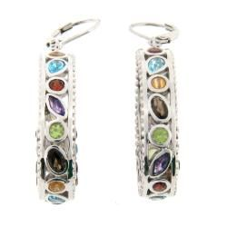 Meredith Leigh Sterling Silver Multi gemstone Earrings