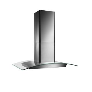 Broan 36 inch Stainless Contemporay opean Glass Island Hood
