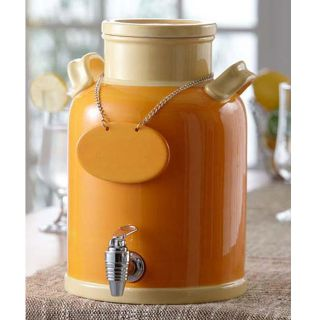 American Atelier Orange/ Peach 240 ounce Ceramic Beverage Dispenser