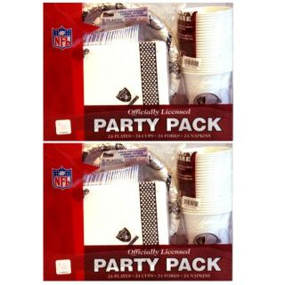 Oakland Raiders 24 piece Party Pack (Set of 2)