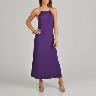 Lennie for Nina Leonard Womens Purple Maxi Dress