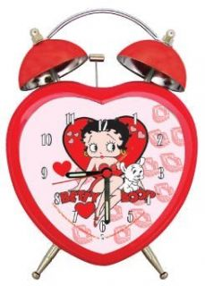 Betty Boop Heart Shaped Twinbell Clock BB C182: Toys