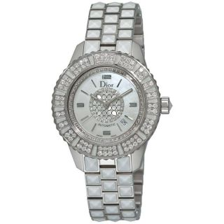 Christian Dior Womens Christal White Sapphire and Diamond Watch