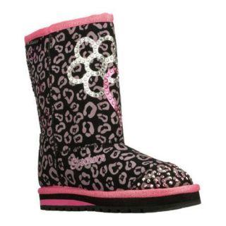 Girls Skechers Twinkle Toes Keepsakes Girl Adventure Black/Pink