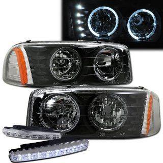 2001 2006 Yukon Denali Halo Headlights Projector + 8 Led Fog Bumper