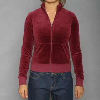 Juicy Couture Womens Burgundy Homecoming Track Jacket