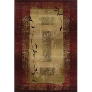 Baldwin Red/Beige Transitional Area Rug (99 x 122)