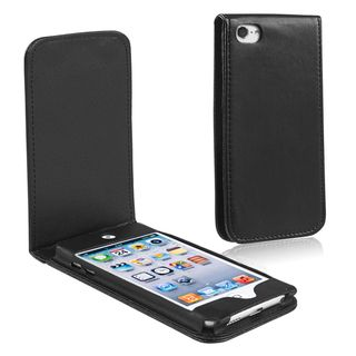 BasAcc Black Leather Case for Apple iPod Touch 5th Generation