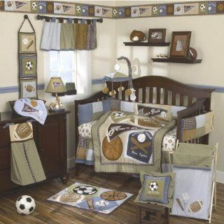 Cocalo Sports Fan Eight Piece Crib Bedding Set Baby