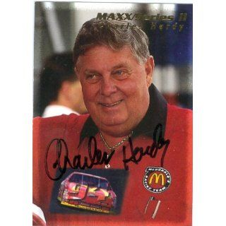 Hardy autographed Trading Card (Auto Racing) 1995 Maxx Series II #187
