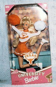 1996 University of Texas Cheerleader Barbie Doll Toys