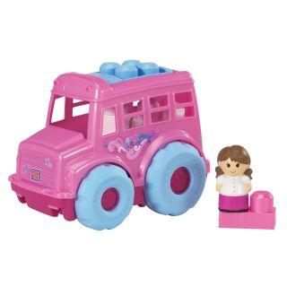 Mega Bloks Lil Vehicles Lil Pink Bus Play Set