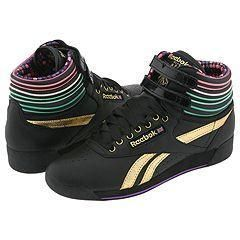 Reebok Lifestyle Freestyle Hi Black/ Gold/ Teal/ Purple/ Strawberry