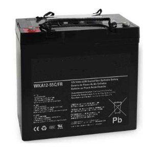 Werker 12V 55AH AGM Flame Retardant Battery   WKA12 55C/FR