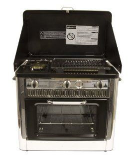 Outdoor Camp Oven with Grill Red/Black