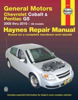 General Motors Chevrolet Cobalt & Pontiac Automotive repair Manual