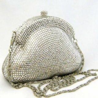 Glamorous Silver Swarovski Crystal Evening Bag and Clutch