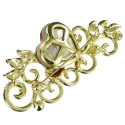 Cano Gold Plating Crystal Stones Heart Design Brooch