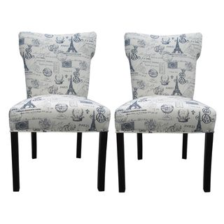 Bella French Blue Dinning Chairs (Set of 2)