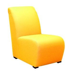 Yellow Kids Upholstered Armless Chair