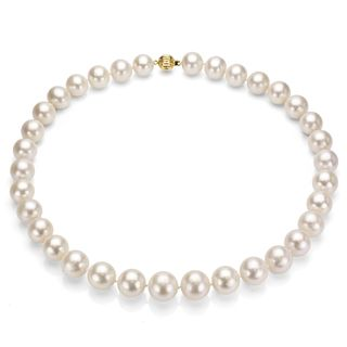 14k Gold Cultured Freshwater Pearl Necklace (11 12 mm/ 18 in